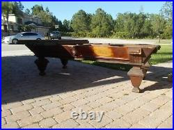 1876 Antique 9' H. W. Collender Pool Table