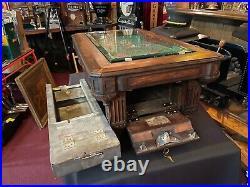 1931 A. B. T. Dutch Pool Table Trade Stimulator WATCH VIDEO