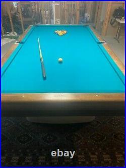 1959 Brunswick Antique 9' Pool Table Anniversary Edition Original Quality