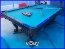 2008 Contender Brunswick 8' pool table