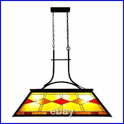 3-Light Pool Table Tiffany Light Steel Construction Chandelier UL Listed Hot