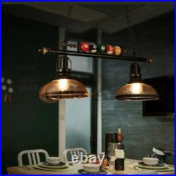 31 Hanging Pool Table Lights Fixture Billiard Pendant Lamp with 2 Glass Shades