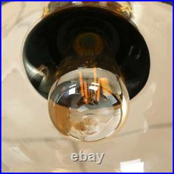 38.58 Hanging Pool Table Lights Billiard Fixture Pendant Lamp with 3 Glass Shades