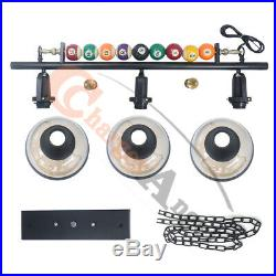 39 Hanging Pool Table Lights Fixture Billiard Pendant Lamp with 3 Glass Shades