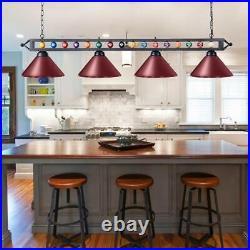 4 Light Ball Design Pool Table Lamp Billiard Pendant Ceiling Fixture Chandelier