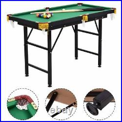 47 Pool Table Billiard Table Toys Game Set w 2 Cue Triangle Rack Ball and Chalk