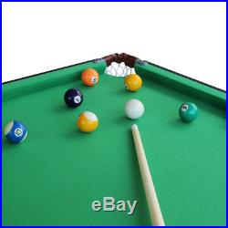 55 Folding Billiard Table Space Saving Pool Table Play with Balls Set cues
