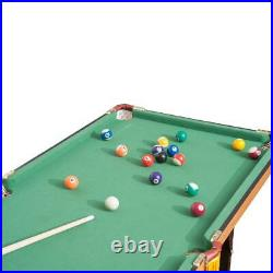55 Portable Folding Billiards Table Game Pool Table for Kids Adults With Cues, B