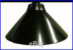 59 Black Metal Ball Design Pool Table Light Billiard lamp W Black Metal Shades