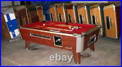 6 1/2' Valley Coin-op Pool Table Model Zd-4 In Red Also Avail In 7', 8