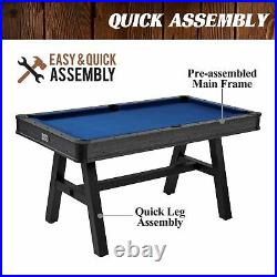 60 Arcade Billiard Compact Design Pool Table with Accessories for Small Spaces