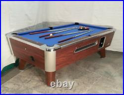 7' VALLEY COMMERCIAL COIN-OP POOL TABLE MODEL Black Cat NEW RED CLOTH