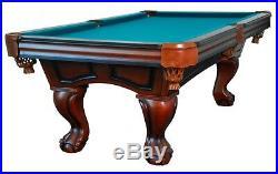 7 foot POOL TABLE THE BOCA RATON by BERNER BILLIARDSBALL &CLAW LEGWALNUTNEW