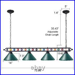 70 Light Pool Table Chandelier Billiard Pendant Ceiling Fixture Lamp with Ball