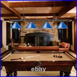 74 Pool Table Light Snooker Billiard Pendant light Metal Shades Chandelier Blue