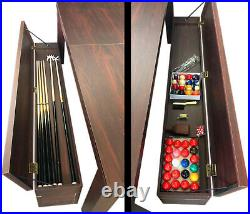 7Ft Pool Table Billiard Red become a dinner table with benches m. Rich Red