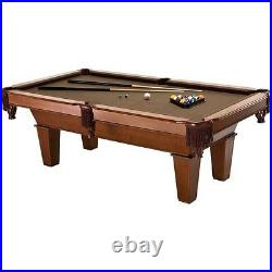 7ft Billiard Pool Table with Accessories 2 Chalk Triangle 2 Cues and Ball Set