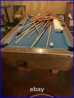 8' Billiard Pool Table 1963. All accessories included