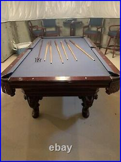 8 Ft Olhausen Pool Table With Accufast bumpers