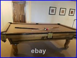 8' Slate Pool Table