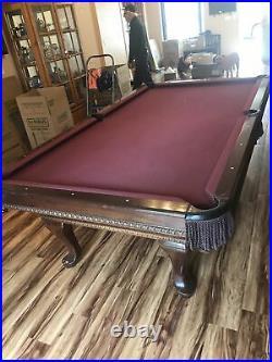 8x4 Professional Pool Table Solid Mahogany 1 Inch Slate