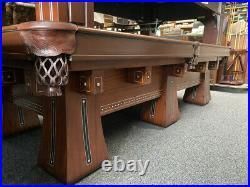 9' Brunswick Kling Antique Pool Table