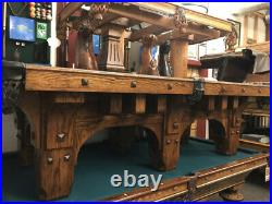 9' Mission Pool Table Antique Finish