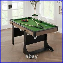 Airzone 60 Inches Folding Pool Table With Accessories Green Cloth 6 Pockets NEW