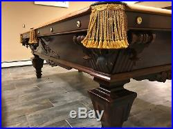 Antique 1870 Brunswick Billiards / Pool Table