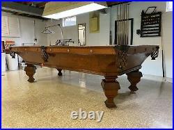 Antique 1892 Brunswick O G Novelty Pool Table