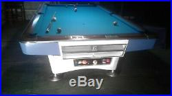 Antique 9ft Brunswick Gold Crown1 Pool Table with Accessories and Delivery/Setup