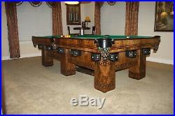 Antique Brunswick 1906 9' Alexandria Pool Table 1 1/2 slate Circassion Walnut
