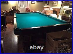 Antique Brunswick Balke Collender Co. Pool Table 9 Foot