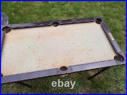 Antique Brunswick Balke Collender Junior Pool Table Cue Balls & Rack Rare