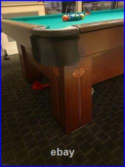 Antique Brunswick-Balke Collender Monarch Cushions 9 Pool Table