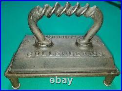 Antique Brunswick Balke Collender Table Iron withTrivet Pool Billiard Snooker