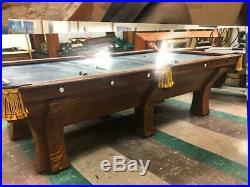 Antique Brunswick Billiards 9' Pool Table ROCHESTER