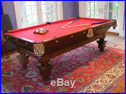 Antique Brunswick Billiards Pool Table'The Southern' 8