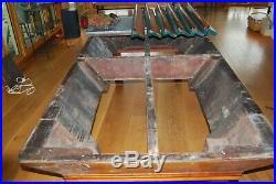 Antique Brunswick Delaware Pool Table