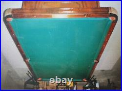 Antique Brunswick Madison Pool Table 9' with ball return