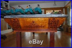 Antique Brunswick Popular Pool Table