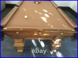 Antique Brunswick Victorian Pool Table 46 by 92