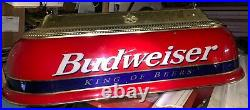 Antique Budweiser Pool Table Light