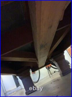 Antique Pool 9 3 piece slate Table Brunswick/Collender/Balke Monarch over 100yr
