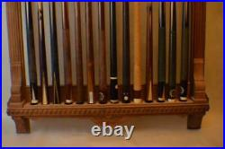 Antique Pool/Billiard/Table/Brunswick Balke Collender Union League Pool Cue Rack