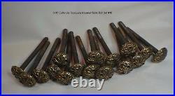 Antique Pool/Brunswick/Billiard/HW Collender Cast Brass Head Rail Bolts c1870s