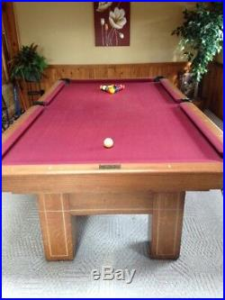 Antique Pool Table 1920's Wendt Nice Shape 48 x 96 playing surface