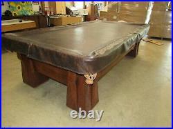 Antique Pool Table Brunswick Balke-Collender Co. Cushion Circa Late 1800 Monarch
