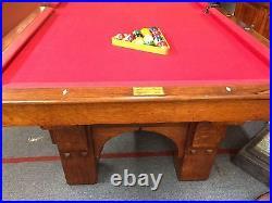 Antique Pool Table Monarch Brunswick Balke-Collender Co. Cushion Circa Late 1800
