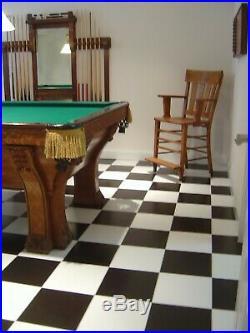 Antique Vintage Brunswick Balke Collender Fancy Pfister Billiards Pool Table